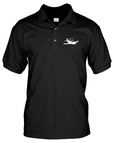 Crew  White single Low  wing Logo