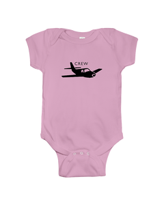 Crew black  single Low  wing Logo  youth and toddler sizes.