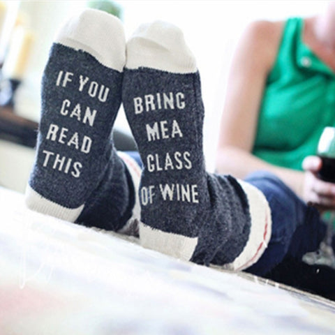 Wine Socks | If You can read this Bring Me a Glass of Wine