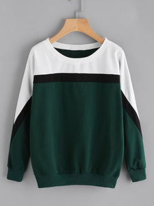 Contrast Panel Sweatshirt
