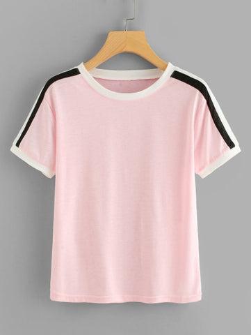 Striped Sleeve Tee