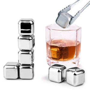 Reusable Stainless Steel Cube Stones