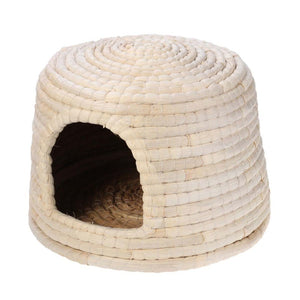 Natural Hand-made Grass Hut Bed for Rabbits or smalls pets