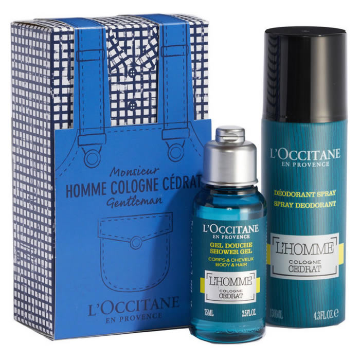 L'occitane Cologne Cedrat Spray Deodorant 130ml Set 2 Pieces