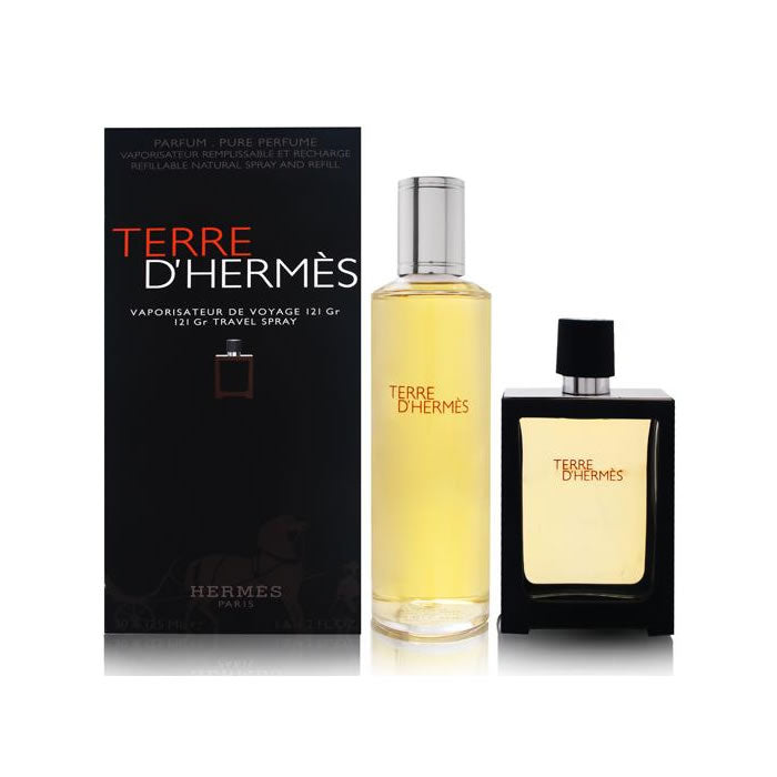 Terre D'hermes Eau De Perfume Spray Refillable 30ml Set 2 Pieces