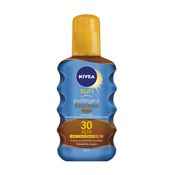 Nivea Sun Protect And Bronze Tan Activating Protecting Oil Spf30 200ml