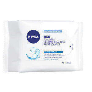 Nivea 3 En 1 Refreshing Cleansing Wipes 40 Units