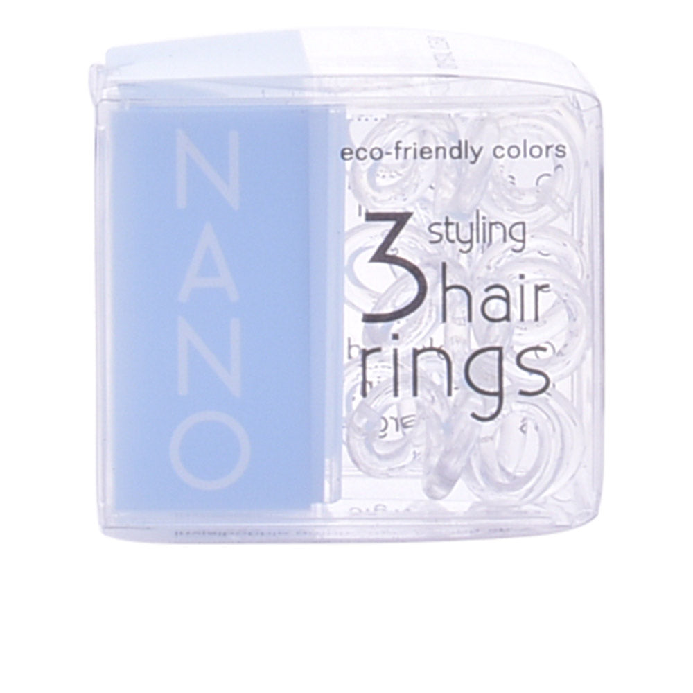 Invisibobble Hair Ring Nano Crystal Clear 3 Pieces