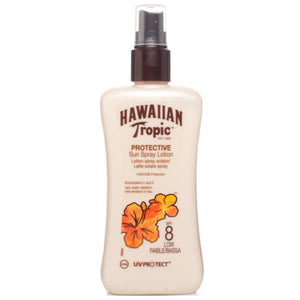 Hawaiian Tropic Protective Sun Spray Lotion Spf8 Low 200ml