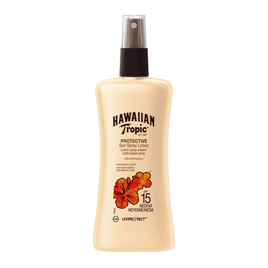Hawaiian Tropic Protective Sun Spray Lotion Spf15 Medium 200ml
