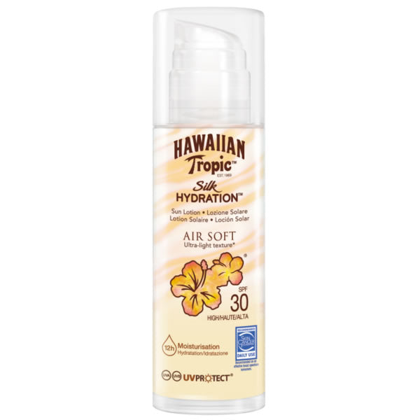 Hawaiian Tropic Silk Hidration Air Soft Sun Lotion Spf30 150ml