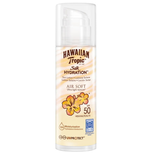 Hawaiian Tropic Silk Hidration Air Soft Sun Lotion Spf50  150ml