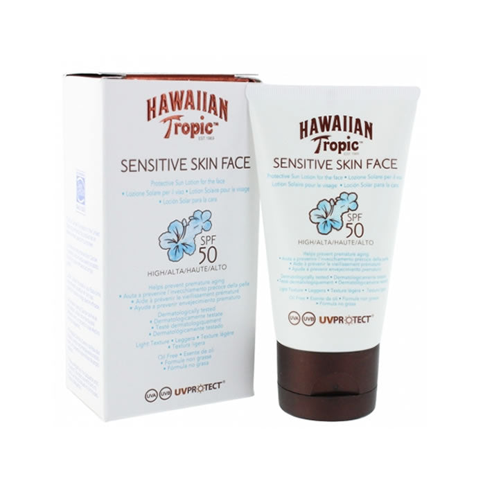 Hawaiian Tropic Sensitive Skin Face Protective Sun Lotion Spf50 60ml