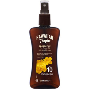 Hawaiian Tropic Protective Dry Spray Oil Spf10 Low 200ml