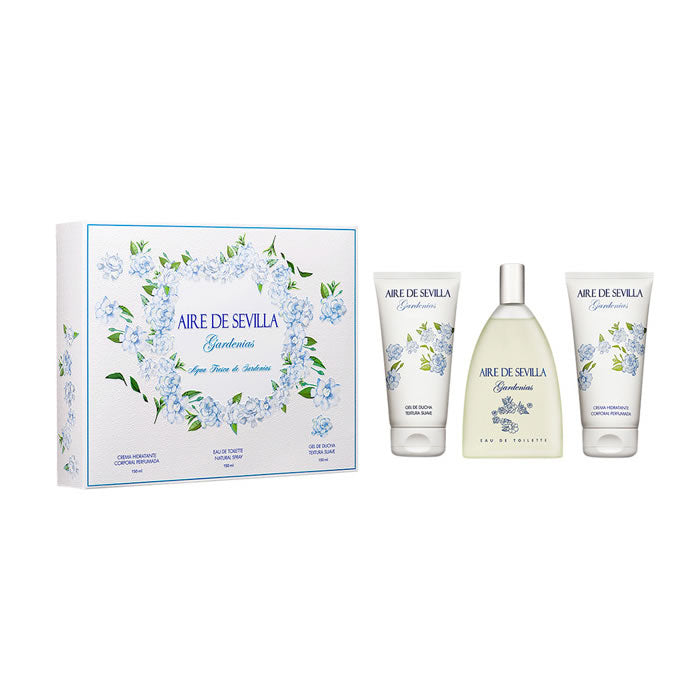 Aire De Sevilla Gardenia Eau De Toilette Spray 150ml Set 3 Pieces