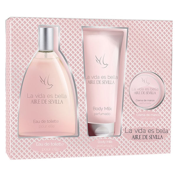 Aire De Sevilla La Vida Es Bella Eau De Toilette Spray 150ml Set 3 Pieces