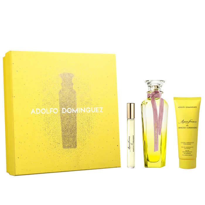 Adolfo Dominguez Agua Fresca Mimosa Coriandro Eau De Toilette Spray 120ml Set 3 Pieces 2019