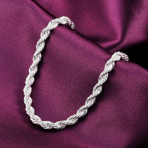 New Women Fashion Sterling Silver Plated Cuff Charm Chain Bracelet Jewelry