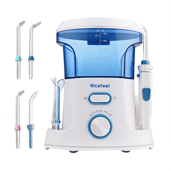 Oral Irrigator Water Flosser Dental Care 600ml with 7 Multifunctional Tips for Family UK Plug