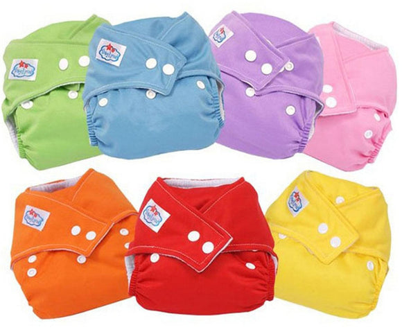 3 Pcs One Size Washable Reusable Adjustable Baby Kids Infant Cloth Diaper Nappy