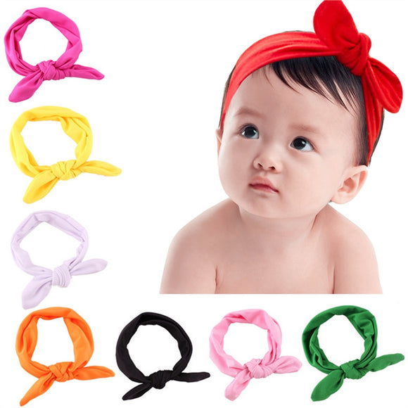 8pcs Baby Butterfly Bow Hairband Turban Knot Headband Elastic Hair Band Accessories for Newborns Toddlers Baby Cute Headware