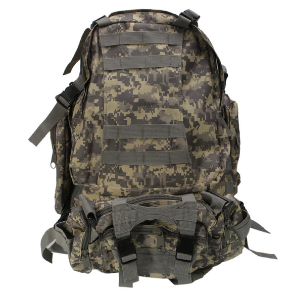 Practical Large Capacity Cloth Single Double Shoulder Tactics Military Fans Backpack 55L ACU