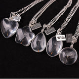 Popular Wshing Dandelion Crystal Pendant Long Necklace