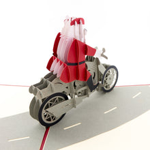 Load image into Gallery viewer, Santa Claus with motorcycle
