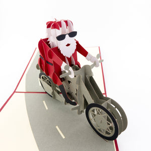 Santa Claus with motorcycle