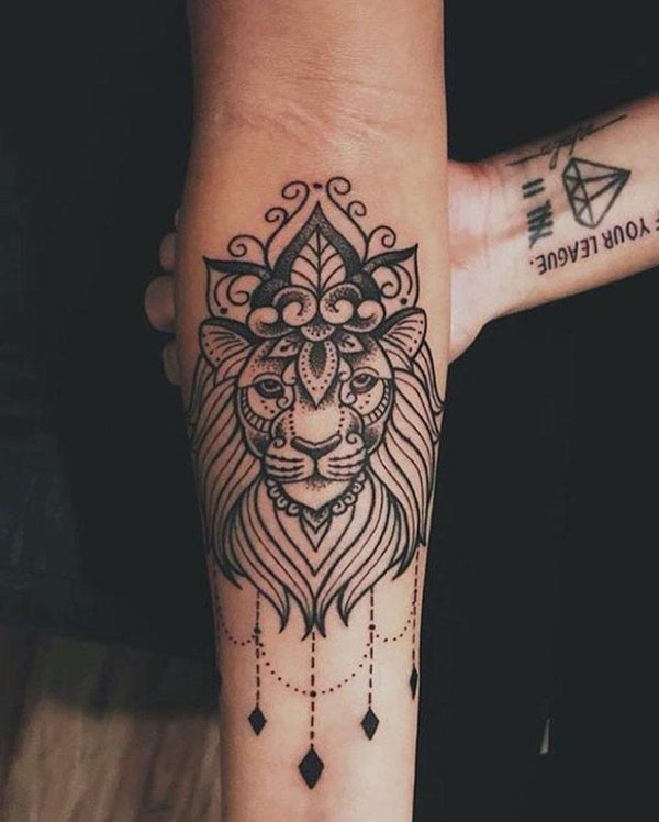 Lion Goddess Tattoo