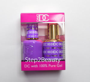 DND DC - Gel Polish & Matching Nail Lacquer Set - #003 BLUE VIOLET