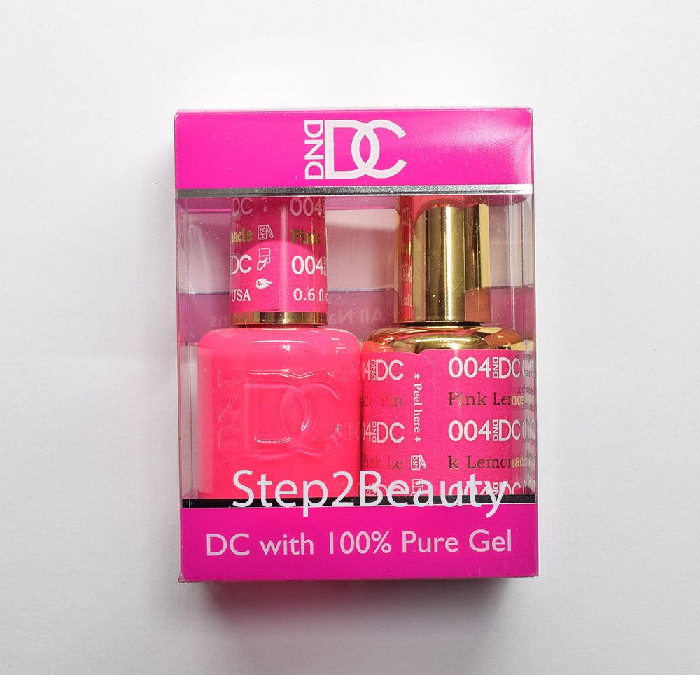 DND DC - Gel Polish & Matching Nail Lacquer Set - #004 PINK LEMONADE