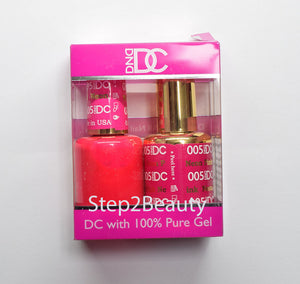 DND DC - Gel Polish & Matching Nail Lacquer Set - #005 NEON PINK
