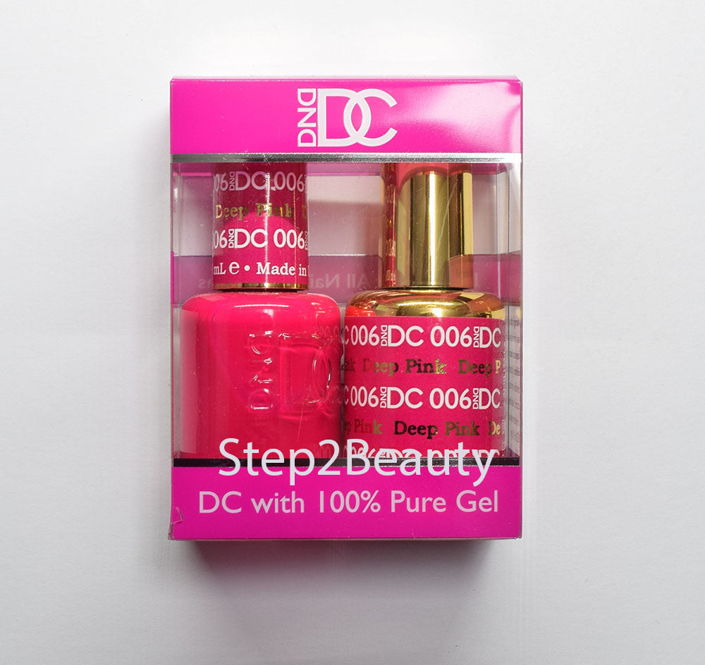 DND DC - Gel Polish & Matching Nail Lacquer Set - #006 DEEP PINK