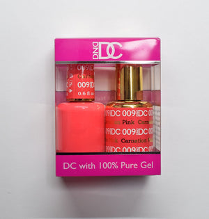 DND DC - Gel Polish & Matching Nail Lacquer Set - #009 CARNATION PINK