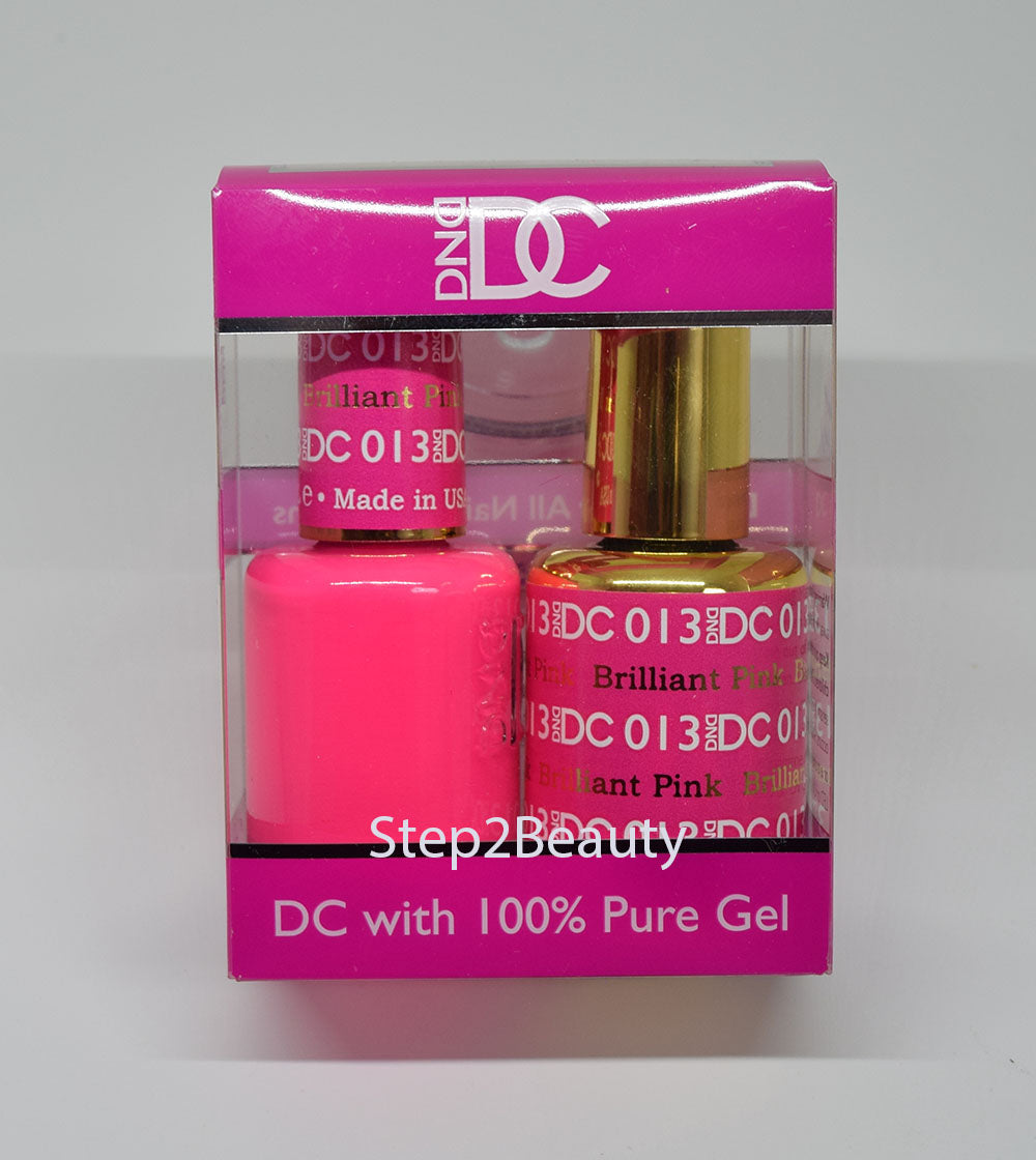 DND DC - Gel Polish & Matching Nail Lacquer Set - #013 BRILLIANT PINK