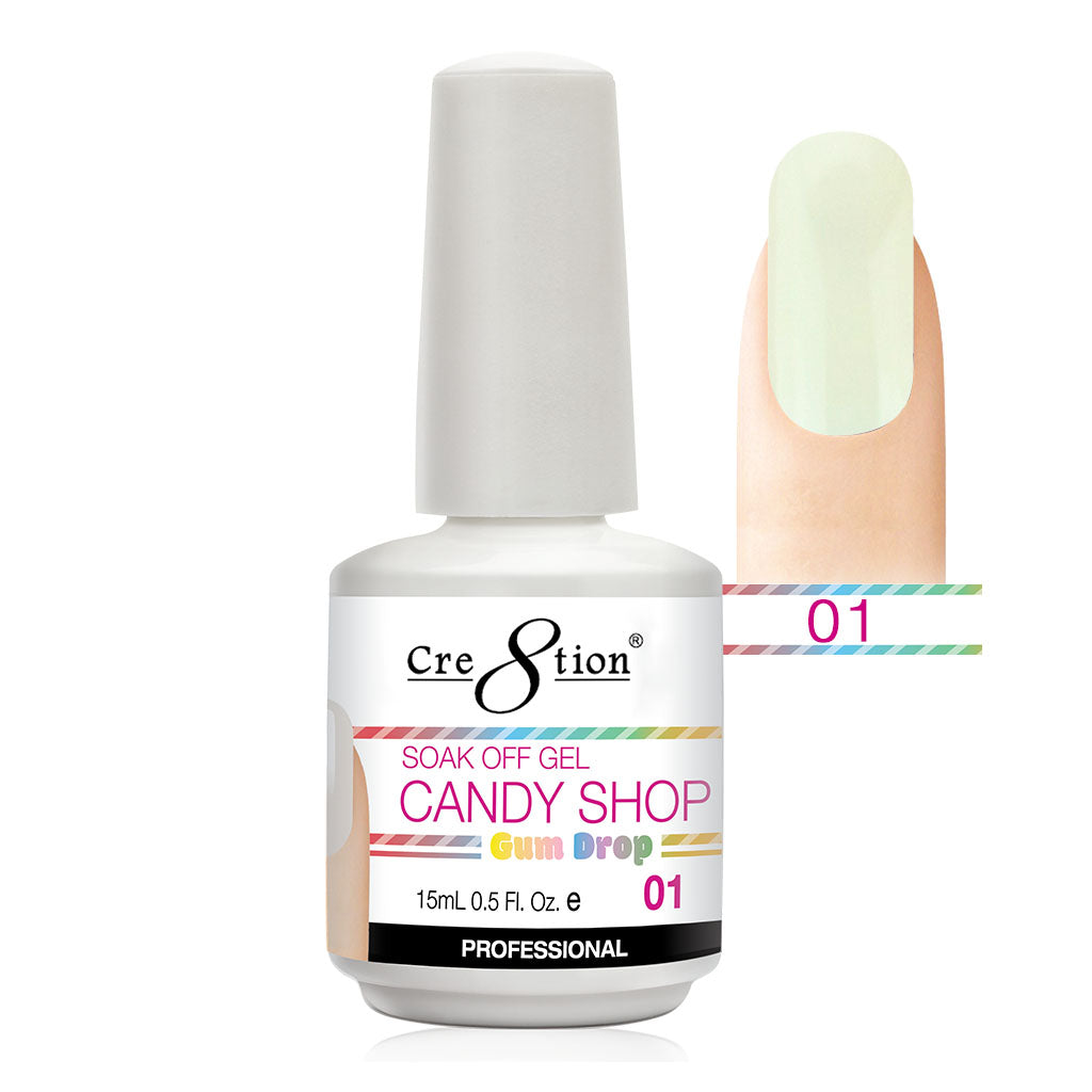 Cre8tion Soak Off Gel UV/LED 0.5 Fl oz. - Candy Shop 01
