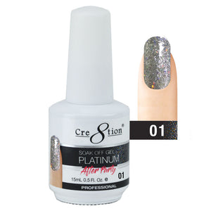Cre8tion Platinum After Party Soak Off Gel UV/LED 0.5 Fl oz 01