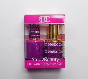 DND DC - Gel Polish & Matching Nail Lacquer Set - #020 REBECCA PURPLE