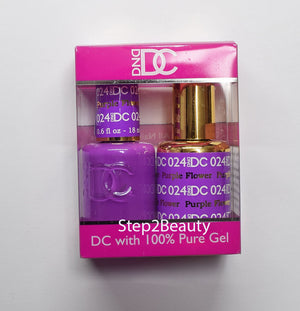 DND DC - Gel Polish & Matching Nail Lacquer Set - #024 PURPLE FLOWER