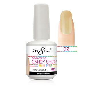 Cre8tion Soak Off Gel UV/LED 0.5 Fl oz. - Candy Shop 02