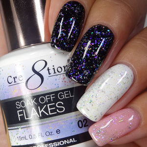 Cre8tion Flakes Soak Off Gel UV/LED 0.5 Fl oz - 02