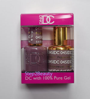 DND DC - Gel Polish & Matching Nail Lacquer Set - #045 PEPPERWOOD