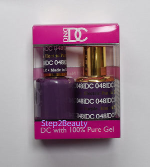 DND DC - Gel Polish & Matching Nail Lacquer Set - #048 ELECTRIC PURPLE