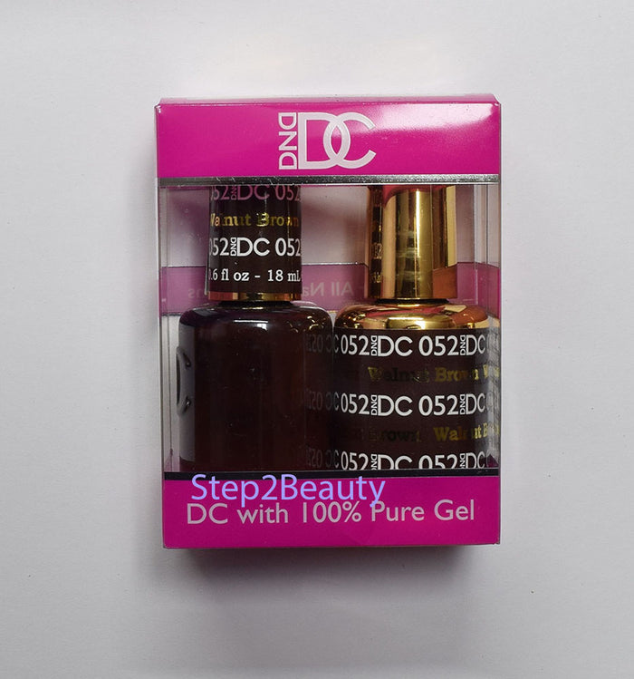 DND DC - Gel Polish & Matching Nail Lacquer Set - #052 WALNUT BROWN