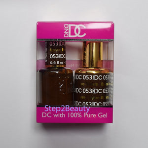 DND DC - Gel Polish & Matching Nail Lacquer Set - #053 SPICED BROWN