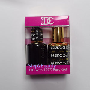 DND DC - Gel Polish & Matching Nail Lacquer Set - #055 BLACK OCEAN