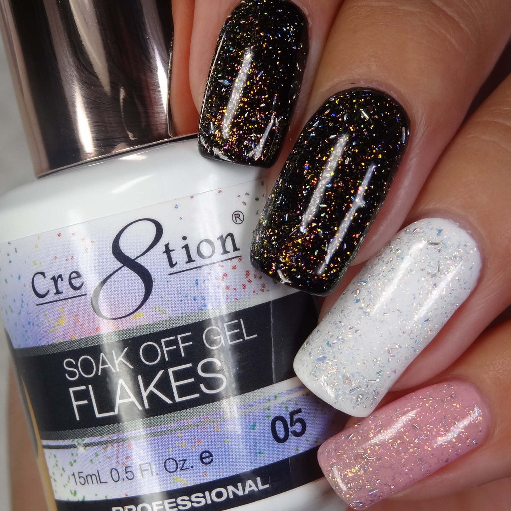 Cre8tion Flakes Soak Off Gel UV/LED 0.5 Fl oz - 05