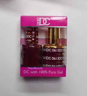 DND DC - Gel Polish & Matching Nail Lacquer Set - #061 WINEBERRY