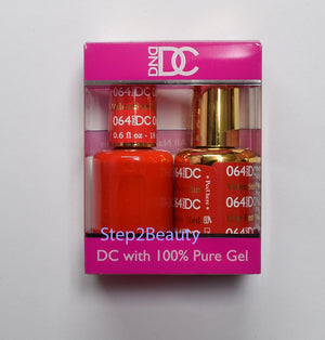DND DC - Gel Polish & Matching Nail Lacquer Set - #064 VALENTINE RED